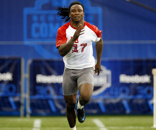 Before the 2008 combine, East Carolina running back Chris Johnson was a projected mid-round pick. That was until he ran the 40 in 4.24 seconds, tied for the fastest all time. Johnson made the Titans look smart after picking him with the 24th overall pick. He became the sixth running back in history to run for more than 2,000 yards in his second season.