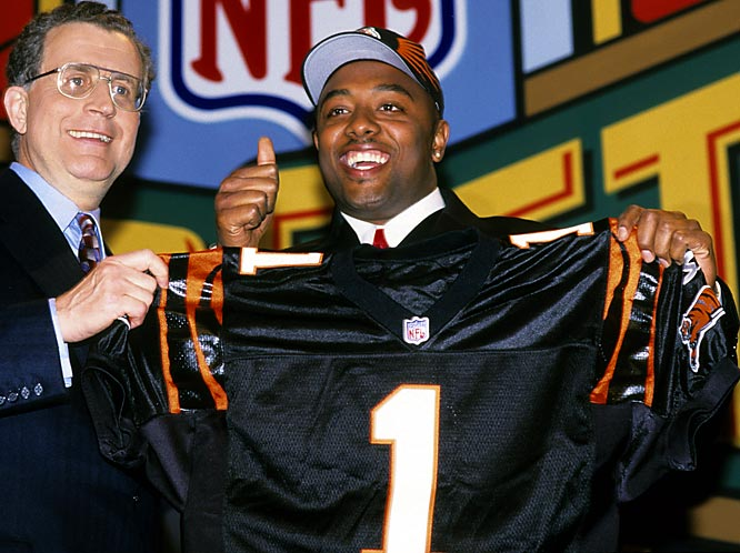 The Oregon standout scored a 37 on the Wonderlic intelligence test in 1999 and reportedly scored a 13 the first time he took it. The Bengals took him at No. 3 overall and he was a complete bust.