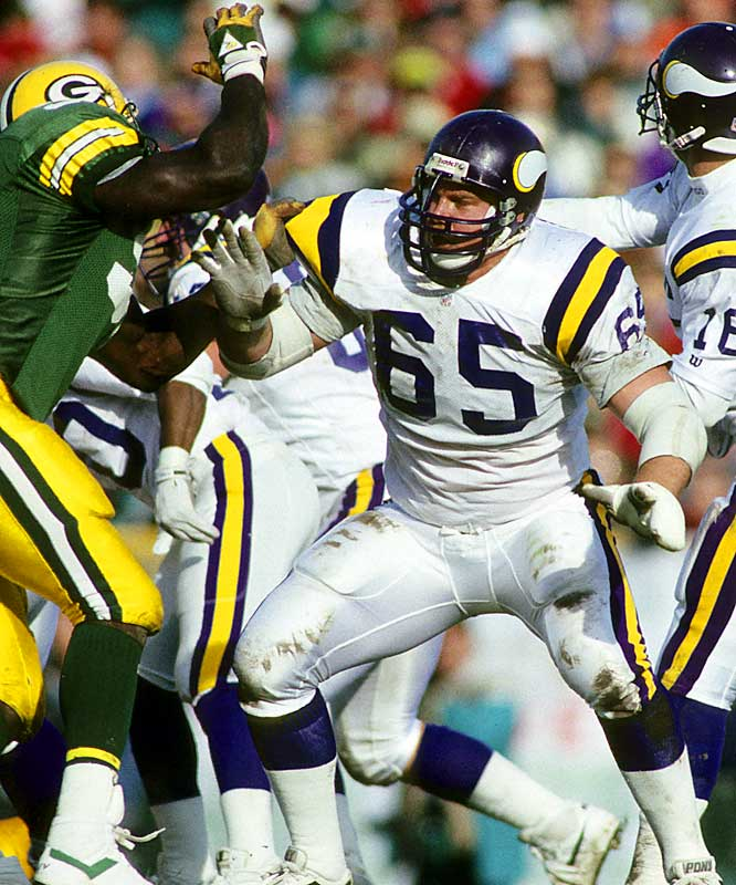 Tackle <br>1986-1992 Minnesota Vikings, <br>1993-1997 Denver Broncos