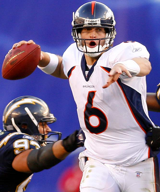 The Broncos' marquee pick was QB Jay Cutler in the first round, and he should be very good. But they made their mark with two fourth-round picks: WR Brandon Marshall, who has drawn comparisons to Randy Moss, and DE Elvis Dumervil (8.5 sacks).