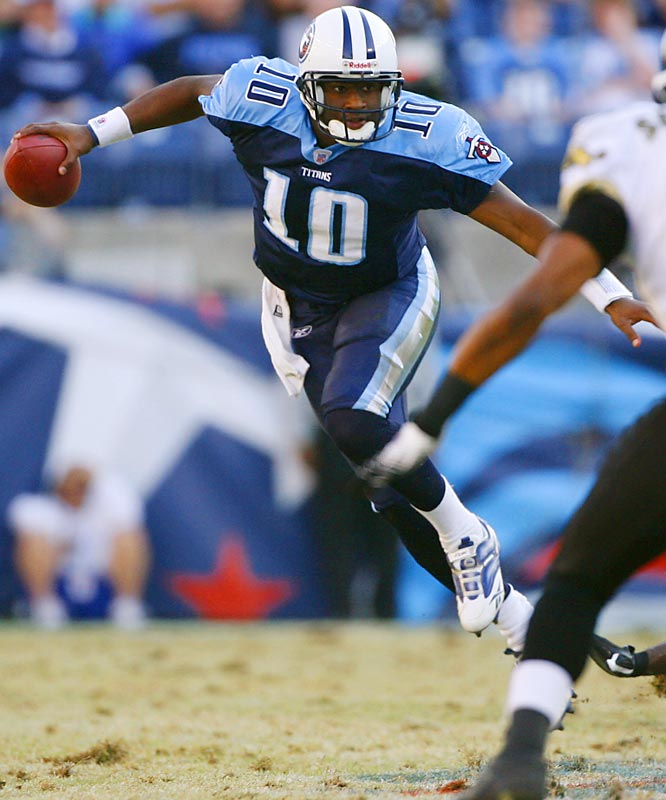 Vince Young wasn't an obvious pick at No. 3 overall, so give the Titans credit for taking the eventual offensive rookie of the year over other quarterback prospects. They also picked promising linebacker Stephen Tulloch and cornerback Cortland Finnegan on the draft's second day.