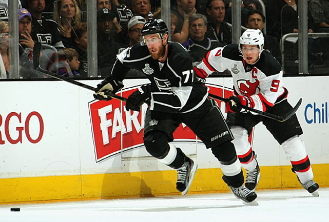 After an unproductive stint in Columbus, the 27-year-old forward was acquired by the Kings on Feb. 23 for defenseman Jack Johnson and a first-round pick in the 2013 draft. Being reunited with former Flyers teammate Mike Richards helped revive Carter's comfort level and his scoring touch -- he'd been a 46-goal man in Philadelphia -- and he potted 18 goals in 32 games down the stretch as the Kings rallied to grab the eighth seed in the West. In the playoffs, he proved to be a force (eight goals, 13 points in 20 games), scoring his first career postseason hat trick in Game 2 of the Western Conference Finals vs. Phoenix plus the OT winner in Game 2 of the Stanley Cup Final vs. New Jersey as well as the Cup-clincher in Game 6.