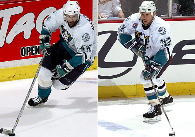Thomas, a speedy, hard-working winger with scoring touch, had made deep playoff runs with the Islanders ('93) and Maple Leafs ('86, '99). He was acquired from Chicago on March 11, the day the big, fast Niedermayer, a veteran of Florida's surprising run to the '96 Cup finals, arrived. The pair helped propel the surprising Ducks to a seven-game Cup finals loss to the Devils.