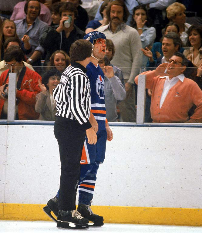 "The aptly nicknamed ""Cement Head"" was Wayne Gretzky's bodyguard on the dynastic Oilers of the 1980s and often cited as one the key reasons the Great One could roam untouched and wreak such havoc. The strapping Semenko did his part by parking his carcass in front of the net or dismantling any and all who dared touch No. 99. Teammate Kevin Lowe saluted Semenko by calling him ""the Gretzky of the tough guys."""