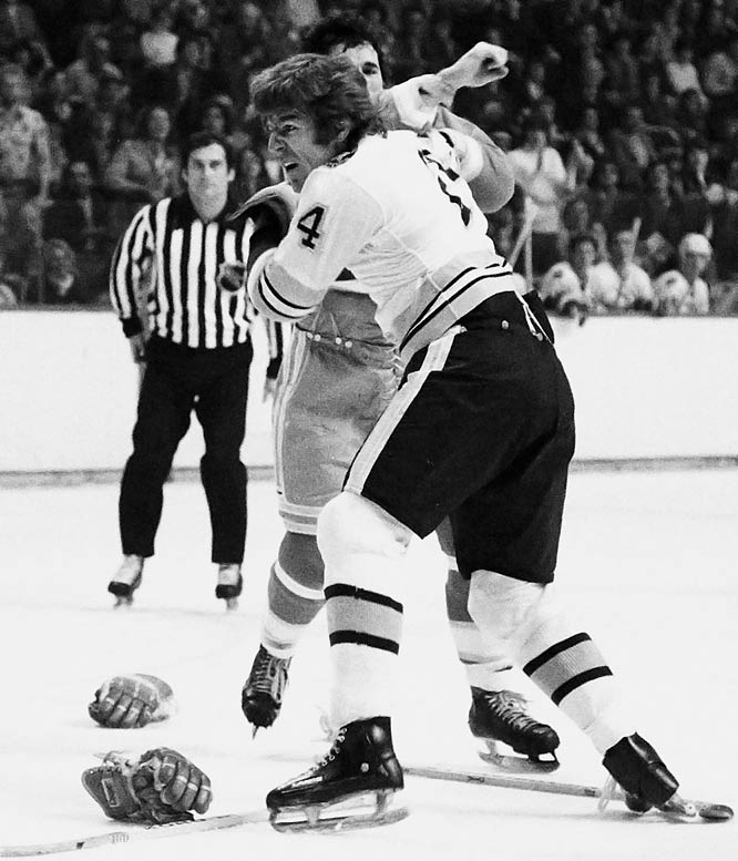 "A teammate of Stan Jonathan and charter member of the Big Bad Bruins of the `70s and early 80s, O'Reilly was turbocharged power forward with a cerebral streak (he often kept his nose buried in books) who nevertheless earned coach Don Cherry's ultimate kudo: ""He's tough, really tough, and that's the way I like em'."" O'Reilly's bouts with Clark Gillies and Behn Wilson are considered classics."