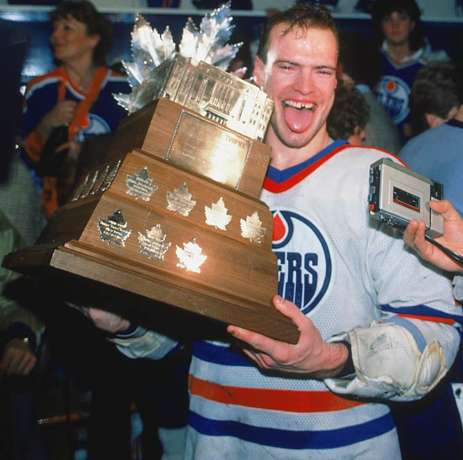 A 50-goal scorer in his third season (1981-82), Messier became the league's finest two-way player and a playoff standout. He earned the Conn Smythe Trophy after scoring 26 points in 19 postseason games as the Oilers dethroned the four-time defending champion New York Islanders in the 1984 Stanley Cup finals.