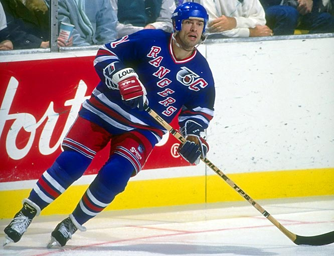 In October 1991, Messier was dealt to the New York Rangers as the cash-strapped Oilers continued to divest themselves of their dynasty stars. Mess returned to Edmonton on Jan. 25, 1992, scoring the game-winner in the Rangers' 3-1 victory and earning a standing ovation. His legend would be further burnished when he led the Rangers to the Stanley Cup in 1994, ending their 54-year drought.