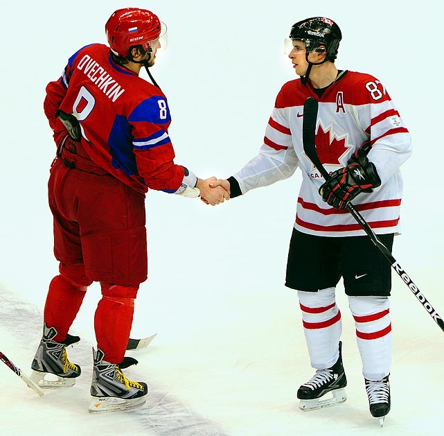 The rivals had a highly-anticipated quarterfinal match at the 2010 Winter Olympics in Vancouver that was deflated by Team Canada's 7-3 rout of Ovechkin's vaunted Russian squad. Ovechkin was kept off the scoresheet and Crosby went on to score the gold-medal-winning goal vs. Team USA.