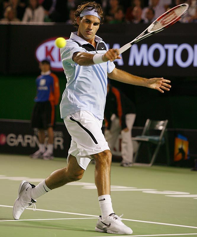 The Swiss marvel rolled off a 41-match winning streak that included the 2007 Australian Open. The Aussie victory left him four Grand Slam titles away from Pete Sampras' career mark of 14.