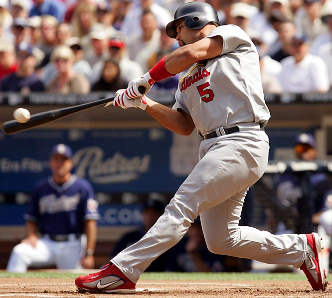 One of the game's most feared sluggers, the  27-year old first baseman powered the Cardinals to their first World Series championship since 1982 after hitting .331 and topping 40 home runs for the fourth consecutive season. He holds a .332 career batting average after six seasons.