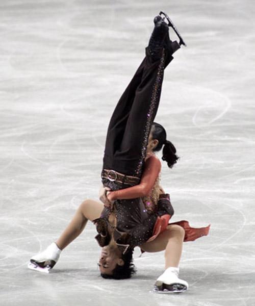 With a pile driver like that, figure skater Federica Faiella could probably have a great future in the WWE.