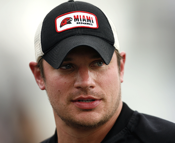 Nick Lachey seems to be all business in the Grand Prix.