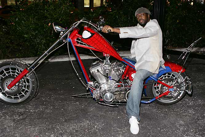 Wyclef Jean cruising to the party in style.