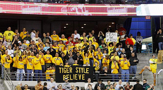 Missouri fans came out in force during the NCAA wrestling championships on Saturday.