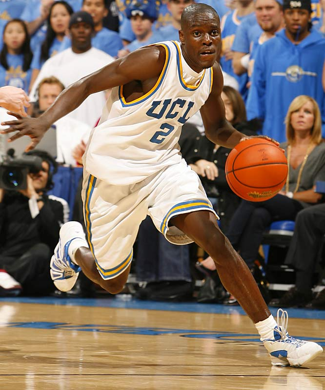 Darren Collison, G, UCLA<br>6-1, So.<br><br>After losing Jordan Farmar from a team that fell to Florida in the national title game last season, UCLA had a question mark at point guard. But Collison proved to be an easy answer. In his first full season as starter, Collison averaged a team-high six assists and 2.2 steals and was third in scoring with 12.4 points a game.