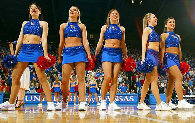 Image result for university of kansas cheerleaders