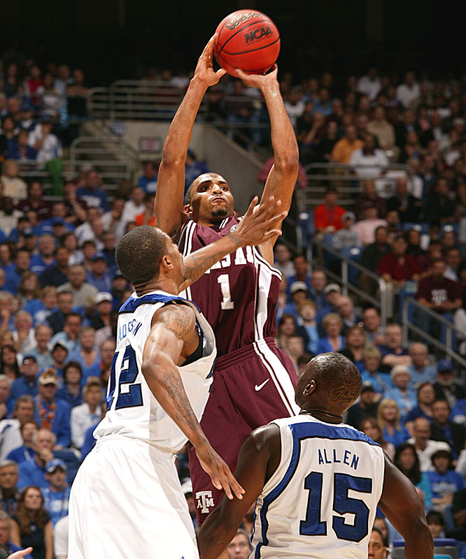 Acie Law IV was just 6-of-17 from the field in his final game for the Aggies