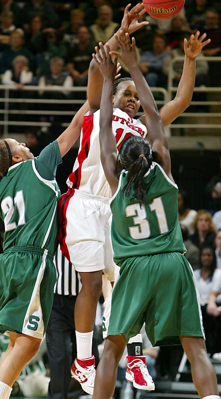 Rutgers guard Epiphanny Prince had 14 points and a team-high six assists against Michigan State.