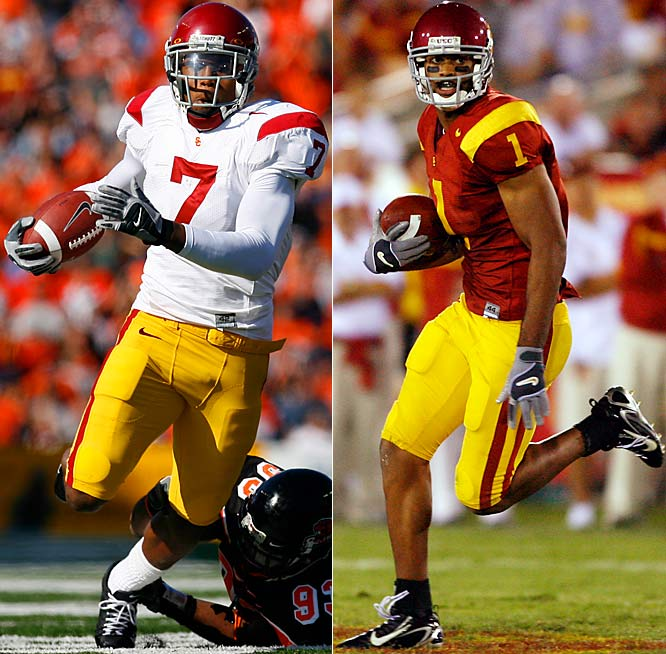 While USC will return star QB John David Booty, the Trojans lost two of the best receivers in America in Dwayne Jarrett and Steve Smith, who combined to catch 141 balls for 2,098 yards and 21 touchdowns last season. Booty will use the spring to gain a good rapport with Vidal Hazelton (7) and Patrick Turner (1).
