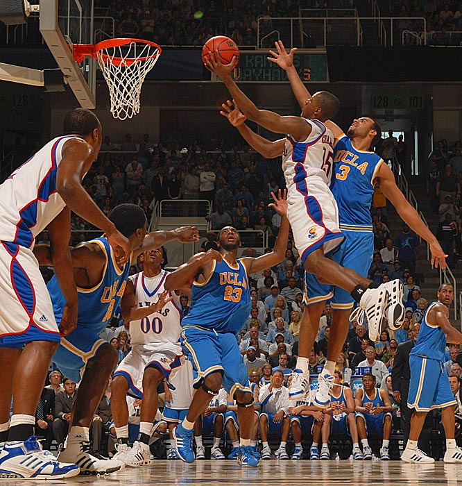 Mario Chalmers was just 1-for-7 from the field for two points for the Jayhawks.