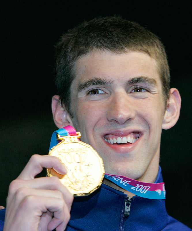 All that glitters is the gold medal which Michael Phelps won in the Mens 200M Freestyle.