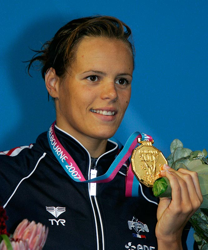 Laure Manaudou won gold in the 400m freestyle.