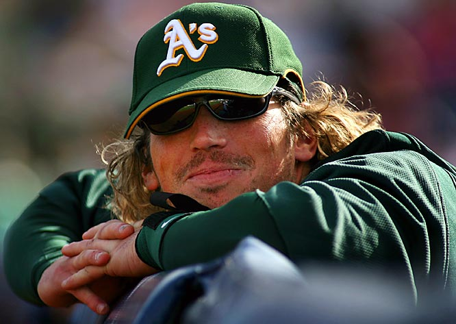 A's top prospect Travis Buck, a 23-year-old outfielder, takes in the sights at camp.