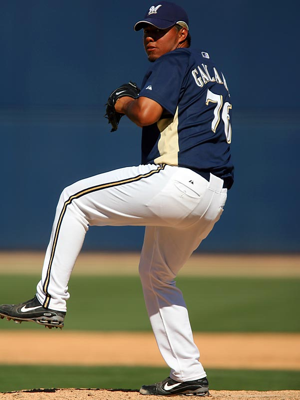 Young right-hander Yovani Gallardo may not make the team out of camp, but look for a midseason callup for the Brewers' top prospect.