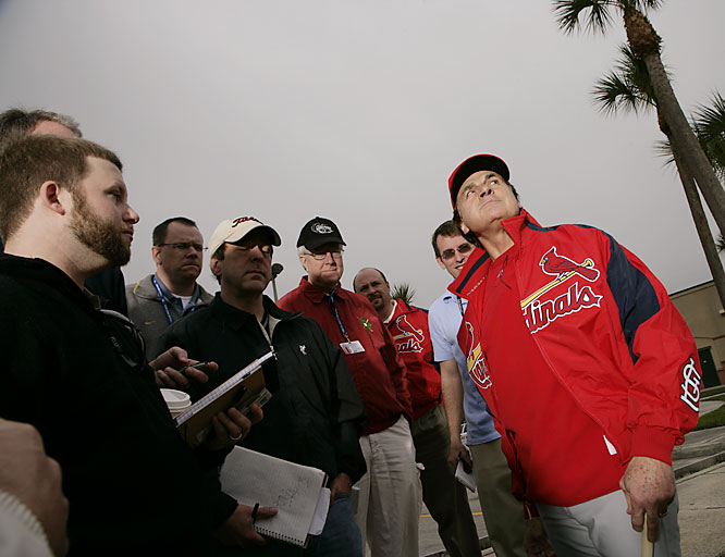 Looks like rain to manager Tony La Russa.