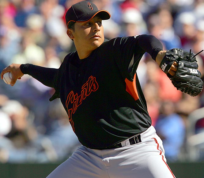Russ Ortiz is back with the Giants after spending parts of three seasons with the Braves, D'backs and Orioles. Ortiz won 68 games for the Giants from 1998 to 2002.