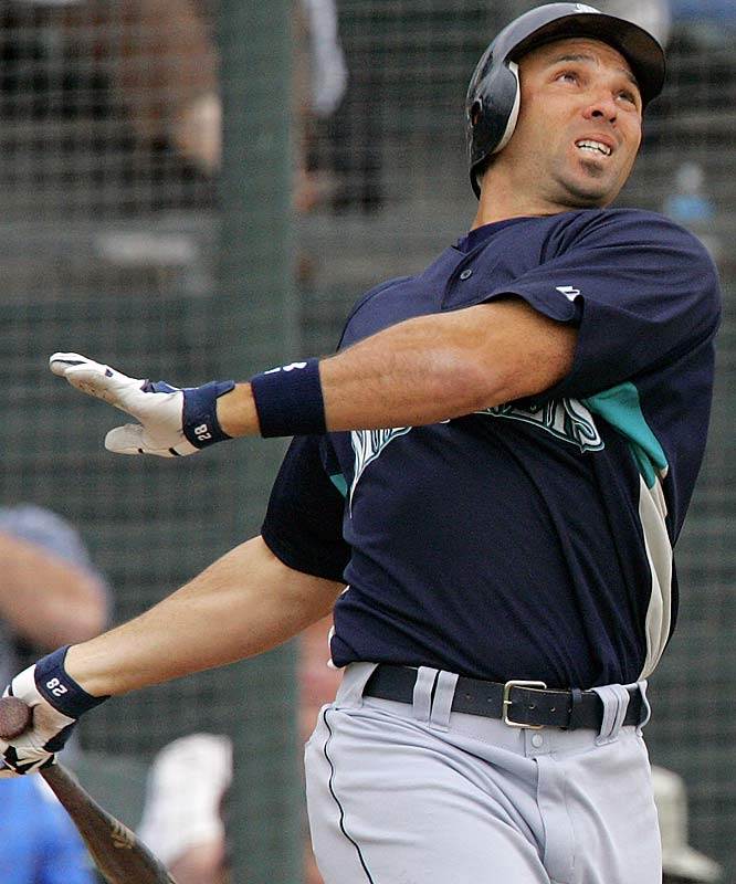 At 35, Raúl Ibañez had a career year at the plate last season with 103 runs, 33 homers and 123 RBIs.