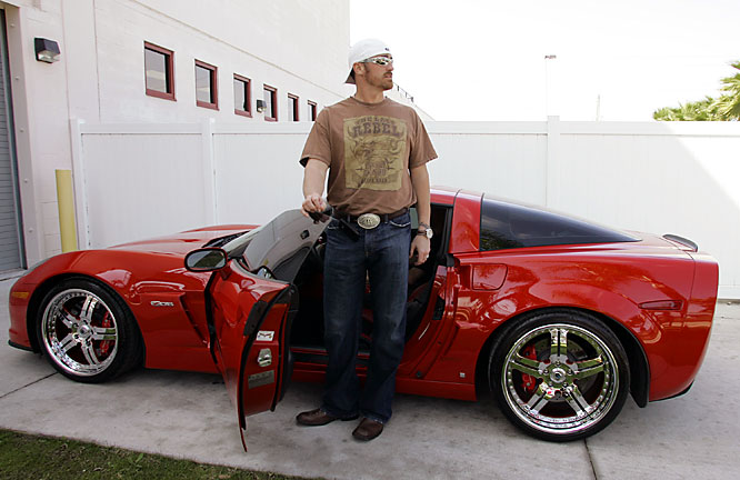 Brett Myers arrived in his vette for spring training.
