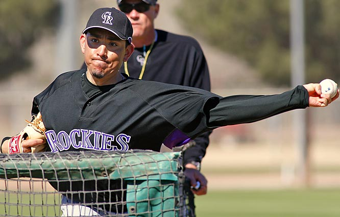 Closer Brian Fuentes has at least 30 saves with the Rockies in each of his last two seasons.