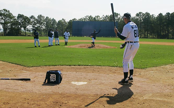 More infield practice for Tigers pitchers.