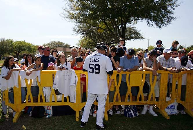 Closer Todd Jones keeps the fans happy.