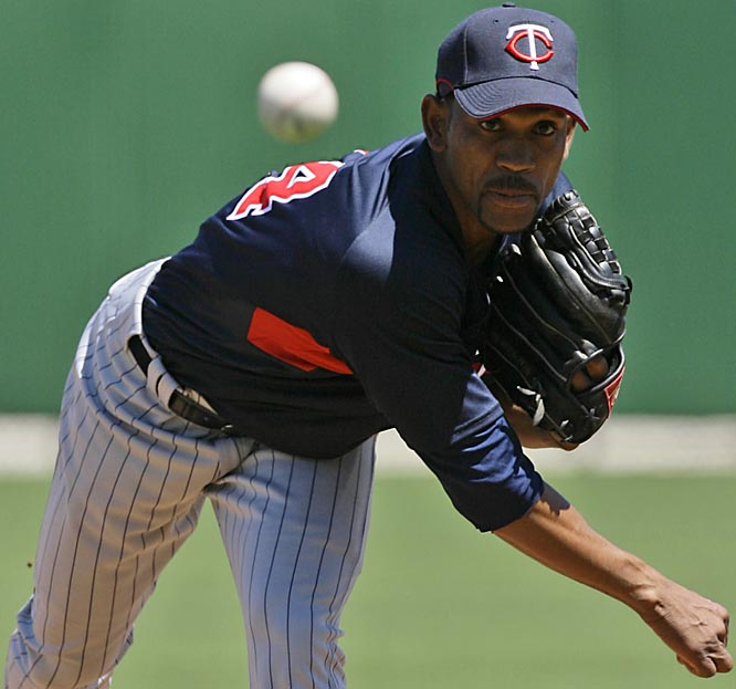 With Brad Radke and Francisco Liriano gone from last year's rotation, free-agent signee Ramon Ortiz looks to fill in for the Twins.