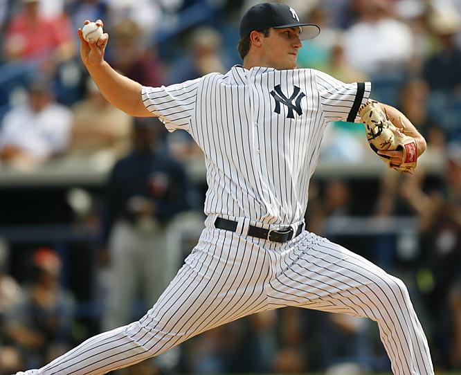 Top prospect Philip Hughes sees action in the Yankees' spring opener.