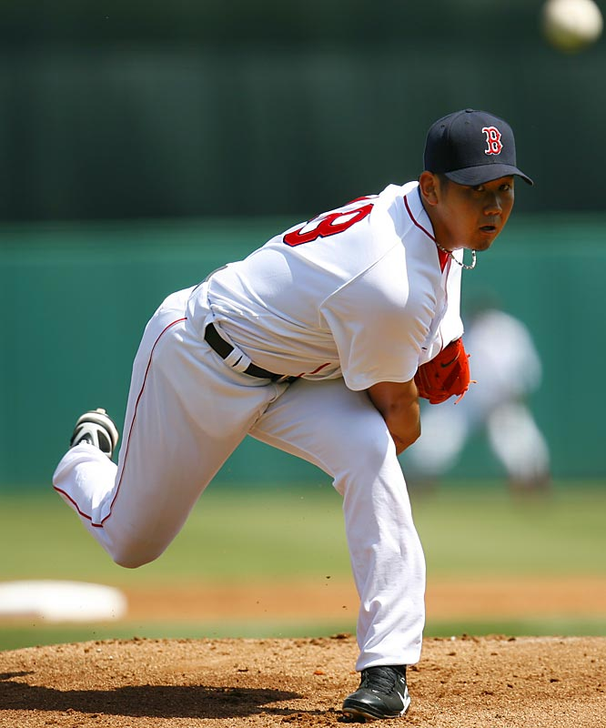 Boston shelled out $103 million for the 26-year-old Japanese import, who allowed one run, one single and one walk in 5 2/3 innings against the Pirates on Wednesday in his best outing of the spring. He left to a standing ovation.