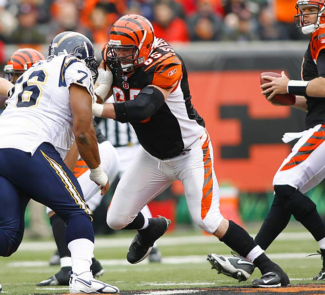 Even though he's never been to a Pro Bowl, Steinbach got $49 million over seven years from Cleveland. The former Bengal is on the smallish side, but he's a talented run-blocker.