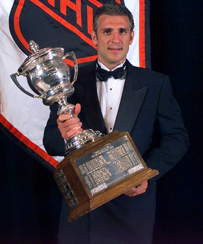 One of the game's pre-eminent two-way players, Francis roomed with two-time Byng winner Dave Keon during his first few seasons with the Hartford Whalers and obviously learned something as he went on to win the trophy three times (1995, '98, 2002).