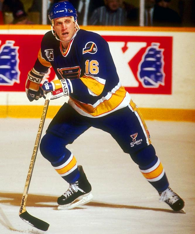 During his 17-season career, The Golden Brett's tongue likely dished out more stinging punishment than his 5-10, 200-pound frame, as he won the Byng in 1990 with the Blues, completing the first father-son duo to earn the award.