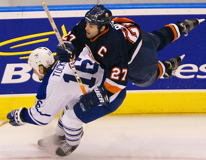 The Islanders' captain needed reconstructive surgery on his left knee after he was taken out by a questionable low hip-check in Game 5 of their first-round playoff series with Toronto. Islanders coach Peter Laviolette was furious that no misconduct penalty was assessed against Tucker, the Maple Leafs winger who had a reputation for dirty play.