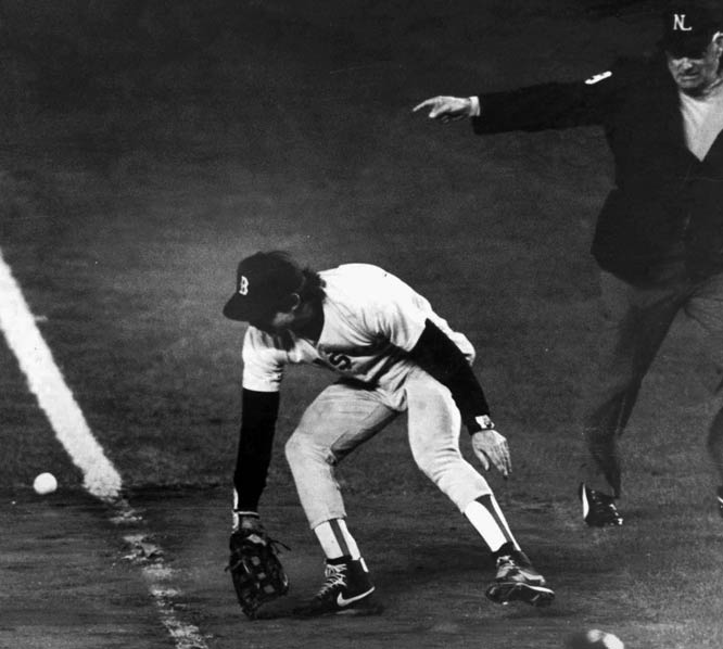 Bill Buckner, for his error in the 1986 World Series.