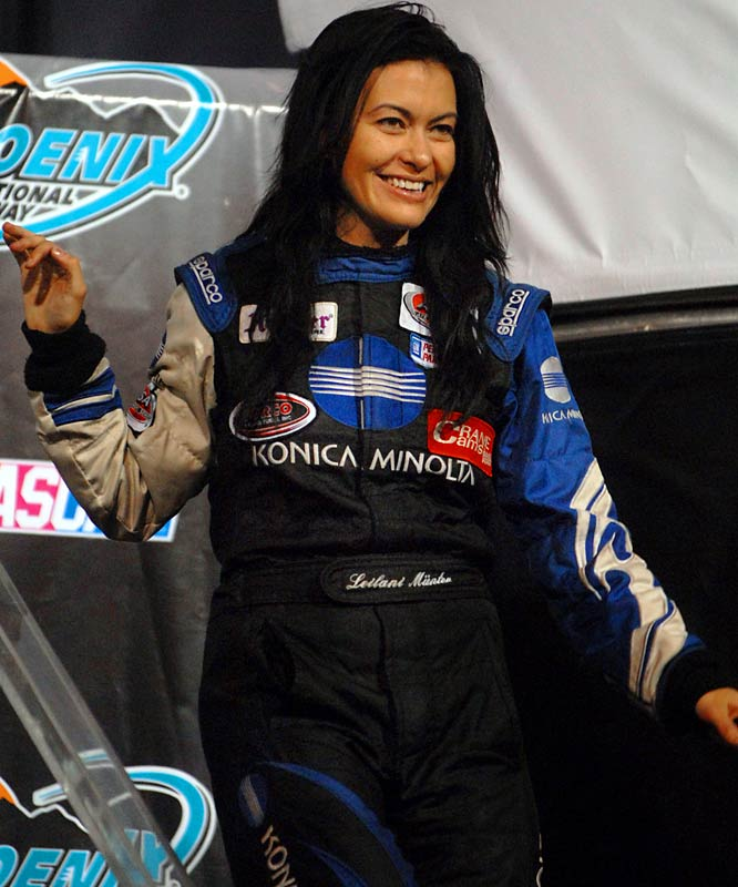 Munter, who once worked as a photo double/stunt driver for actress Catherine Zeta-Jones, is working her way up the NASCAR ranks. Last June, she finished fourth in a USRA Super Late Model Series event at Texas Motor Speedway, the highest finish by a female driver in any race at the track.