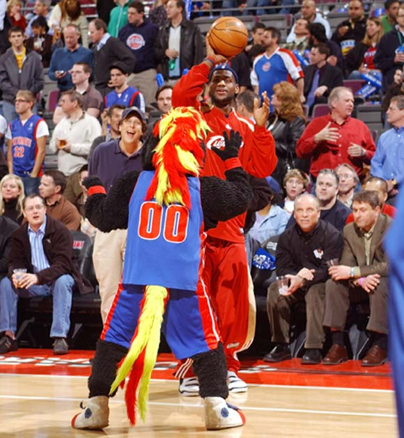 Shouldn't the Pistons double team LeBron?