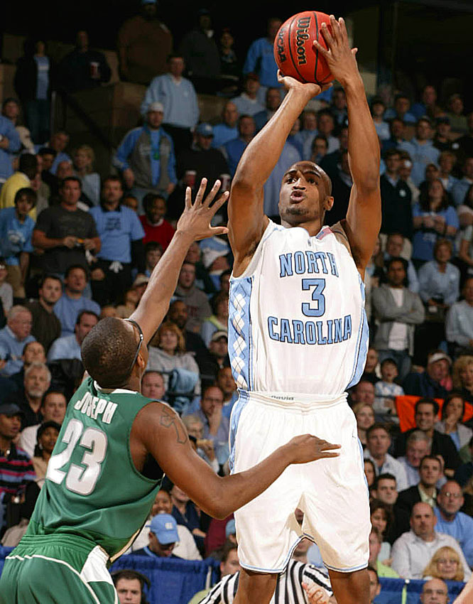 North Carolina senior Reyshawn Terry hit 2-of-7 3-pointers to chip in 14 points.