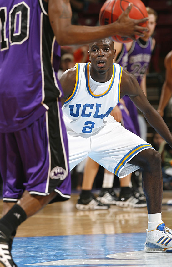 Darren Collison had 14 points and eight assists while playing on a sprained ankle as the Bruins coasted in their opener.