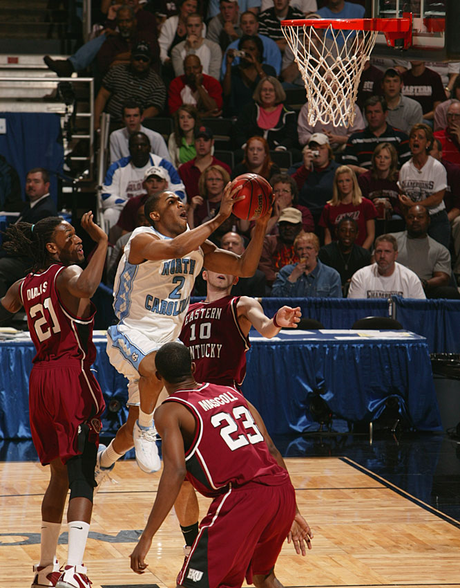 Wayne Ellington chipped in 12 points and five assists as North Carolina held off the 16th seed.