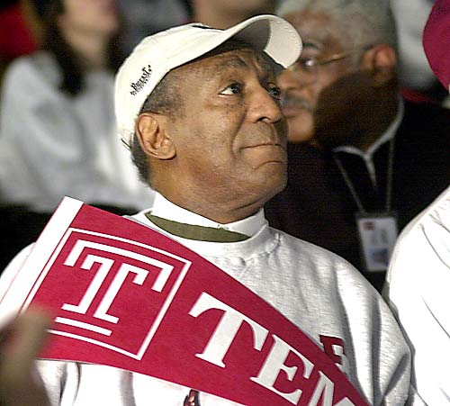 Philadelphia native Bill Cosby received his undergrad degree from Temple, which he attended on a track and field scholarship.