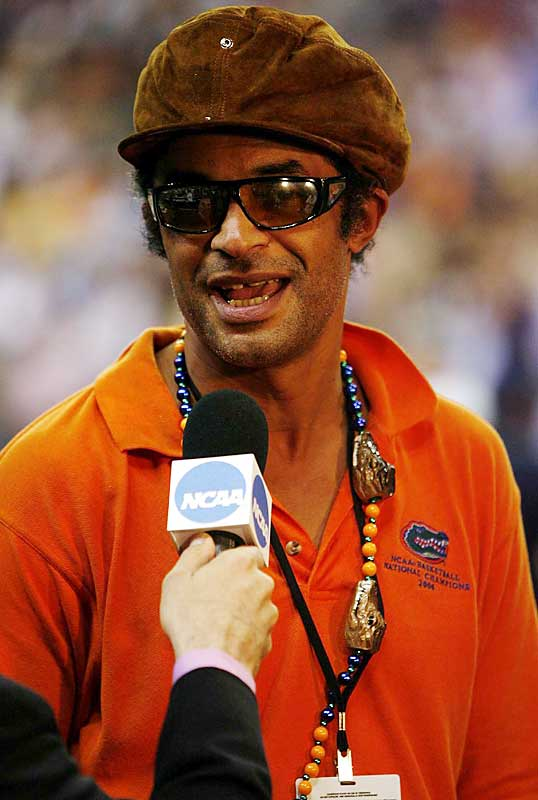 Speaking of daddies, Yannick Noah took time for an interview prior to Monday's championship game.